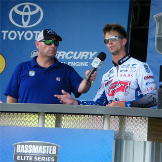 Elite Angler Chad Pipkens talks about his final tournament day fishing during the Bassmaster Lake St. Clair tournament August 30, 2015