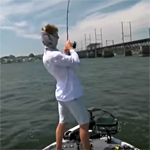 Chad Pipkens fired up over a big Chesapeake bass VIDEO